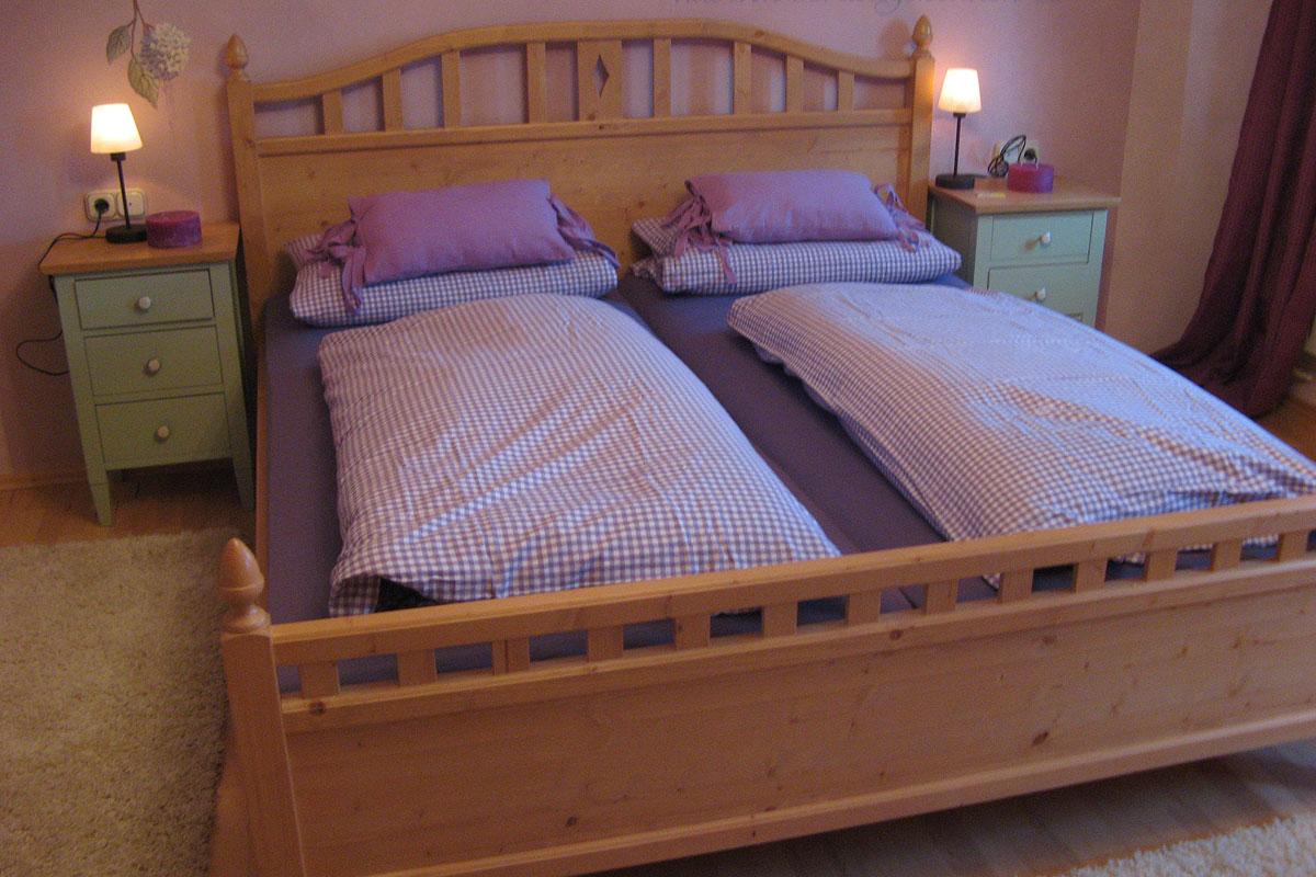 Eines unserer gemütlichen Schlafzimmer auf dem Bauniglerhof