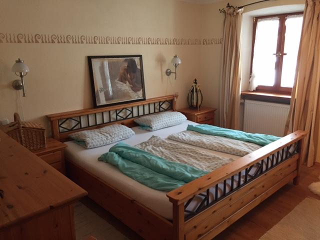 Schlafzimmer in unserer Ferienwohnung Romantica
