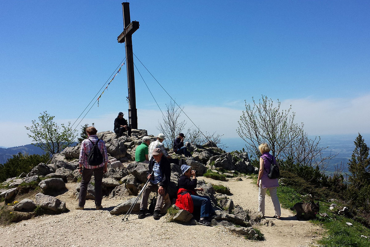 Gipfel der imposanten Kampenwand in Oberbayern
