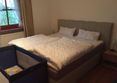Schlafzimmer in unserer Ferienwohnung Romantica 2