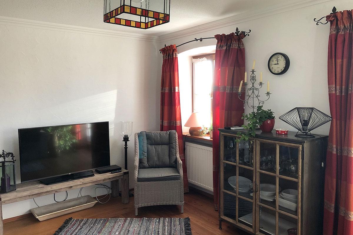 Wohnzimmer Ferienwohnung Romantica 2
